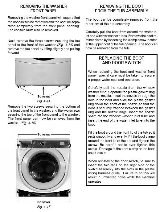 whirlpool duet washer how to remove the front access panel how to rh fixitnow com whirlpool front load washer manual w10007190 whirlpool front load washer model wfw9050xw00 manual