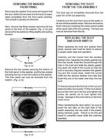Whirlpool Duet Washer How To Remove The Front Access