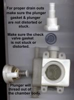 GE / Kenmore Dishwasher Check Valve Assembly; No-Drain or Poor Draining = Clean Out Check Valve and/or Replace Flapper Gasket