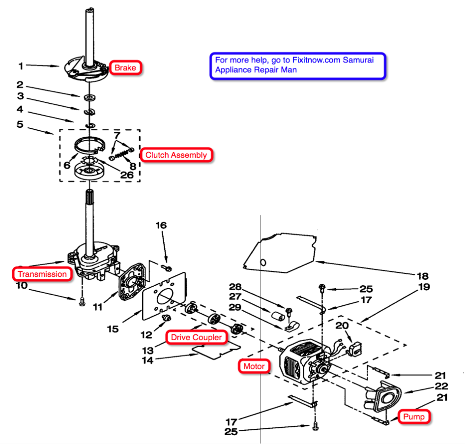 Whirlpool Washer Motor Wiring Diagram 37 Images Washing Machine Direct Drive Train Full For And